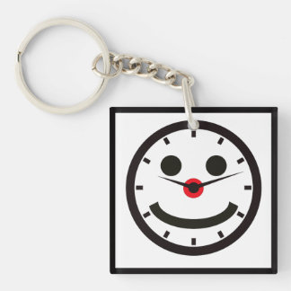 Happy Face Time - Clocked Key Ring