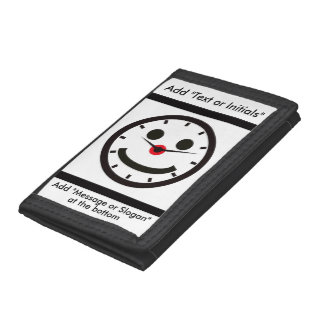 Happy Face Time - Clocked Trifold Wallets