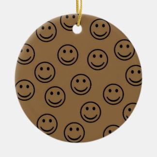 Happy Faces Round Ceramic Decoration