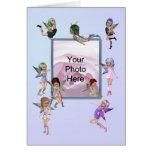 Happy Fairies Photo Birthday Card
