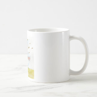 Happy Fall - Cute Autumn Greetings with Bunny in t Coffee Mugs