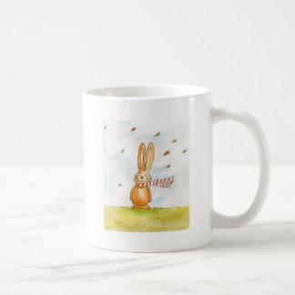 Happy Fall - Cute Autumn Greetings with Bunny in t Coffee Mug