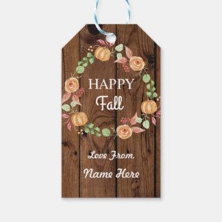 Happy Fall Harvest Festival Gift Tags Pumpkin Tag