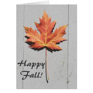 Happy Fall Leaf Greeting Card