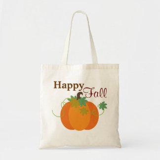Happy Fall Pumpkin Tote Bag