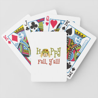 Happy Fall Yall Bicycle Playing Cards