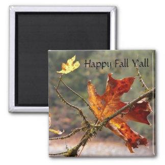 Happy Fall, Y'all Red Leaf Fridge Magnets