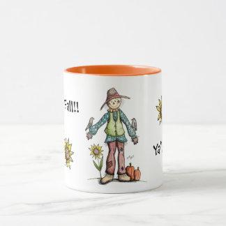 Happy Fall Ya'll!  Scarecrow Mug