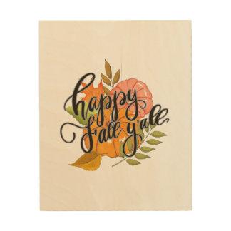 Happy Fall Y'all Wood Wall Decor