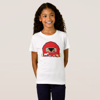 Happy Farm Barnyard Animals Girls T-Shirt