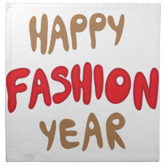 Happy Fashion Year Napkin