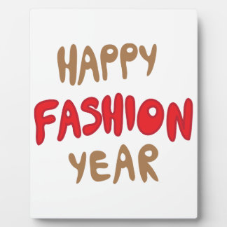 Happy Fashion Year Plaque