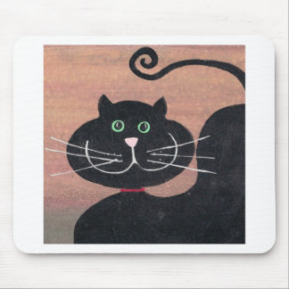 Happy, Fat and Black Mouse Pad