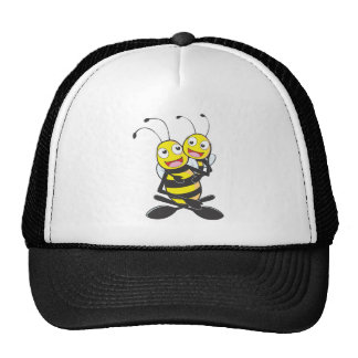 Happy Father and Daughter Bee Having Fun Trucker Hats