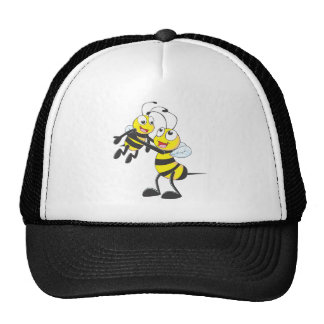 Happy Father and Son Bee Having Fun Trucker Hats