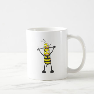 Happy Father and Son Bee Having Fun Mugs