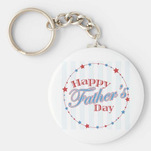Happy Father's Day Stars Keychains
