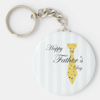 Happy Father's Day Tie Basic Round Button Key Ring