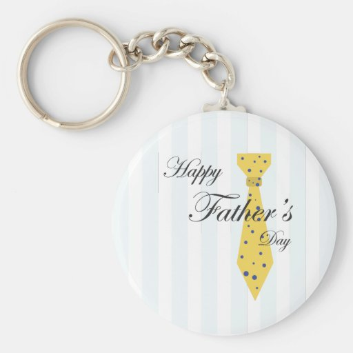 Happy Father's Day Tie Key Chain