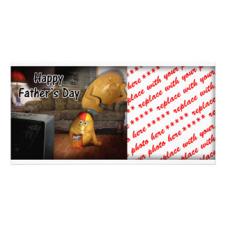 Happy Father s Day - Couch Potatoes Dad Asleep Photo Card Template