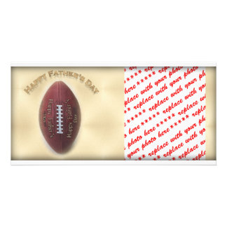 Happy Father s Day Football On Gold Background Photo Card