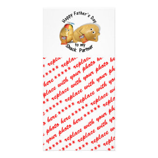 Happy Father s Day Snack Partner Couch Potatoes Custom Photo Card