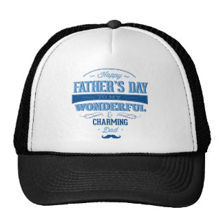 Happy Father's Day To My Wonderful & Charming Dad Mesh Hat