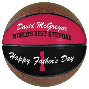 Happy Father's Day World's Best Stepdad Basketball