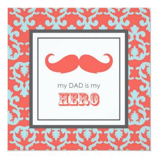Happy Father's Day 13 Cm X 13 Cm Square Invitation Card
