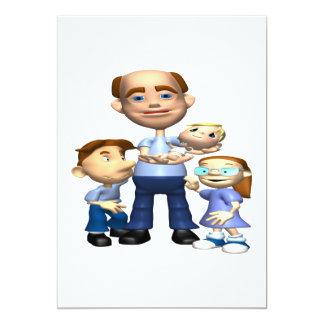 Happy Fathers Day 13 Cm X 18 Cm Invitation Card
