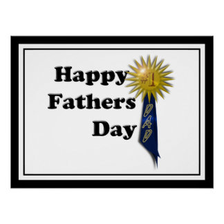 Happy Father's Day - #1 Dad Perfect Poster