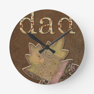 Happy-Fathers-Day #3 Round Clock