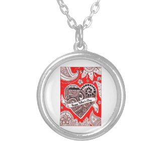 Happy Father's Day 4 Silver Plated Necklace