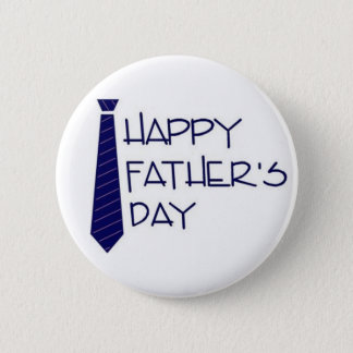 happy fathers day 6 cm round badge
