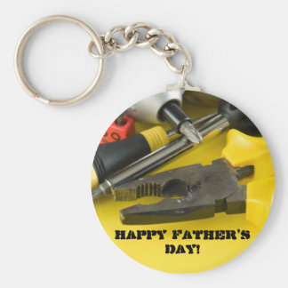 Happy Father's Day! Basic Round Button Key Ring