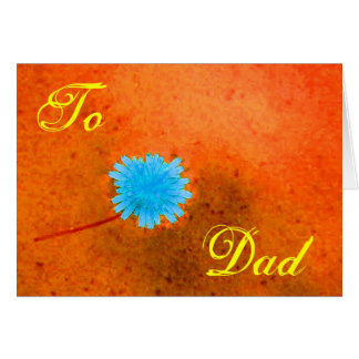 Happy Father's Day Blue Flower I Greeting Card
