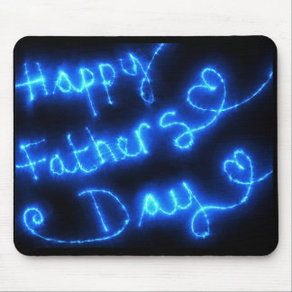 Happy Father's Day Blue Lights Mouse Pad