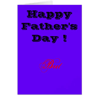 Happy Father's Day But...Card