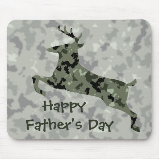 Happy Father's Day Camo Deer Mouse Pad