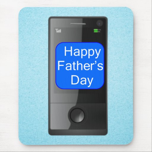 Happy Fathers Day Cell Phone Mousepad