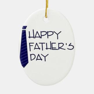 Happy Fathers Day Ceramic Ornament