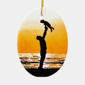 Happy Father's Day Ceramic Ornament