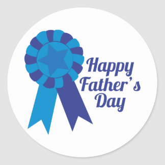 Happy Fathers Day Classic Round Sticker