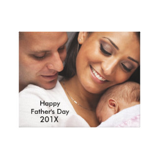Happy Fathers Day Custom Photo Canvas Stretched Canvas Prints
