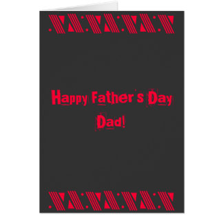 Happy Father's Day Dad!, You Rock! Greeting Card