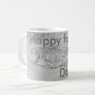 Happy Father's Day fish fossil Coffee Mug