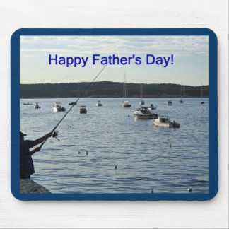 Happy Father's Day, fisherman Mouse Pad