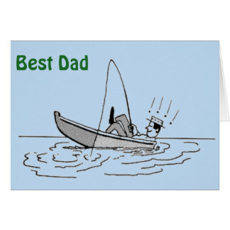 Happy Father's Day - Fishing Boat Card