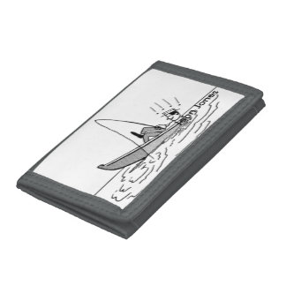 Happy Father's Day - Fishing Boat Tri-fold Wallet