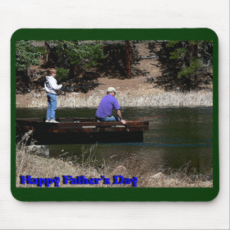 Happy Fathers Day Fishing Mouse Pad